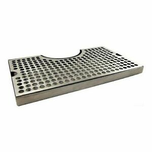 Stainless Steel Drip Tray With Cutout For Tower Large 12 X 7 Beer Drip