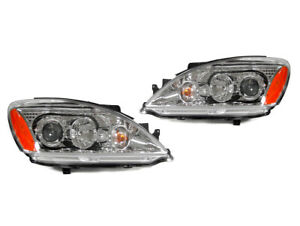 Jdm Chrome Housing Crystal Projector Headlights For 2004 2007 Mitsubishi Lancer