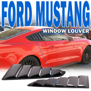 Fits 15 17 18 Ford Mustang Oe Style Painted G1 Shadow Black Window Louver Pp