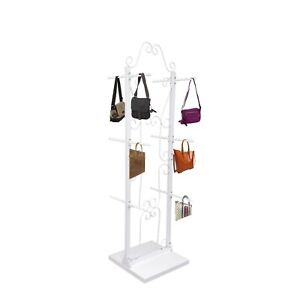 Two Sided Decorative Clothing Purse Jewelry Store Display Hanging Stand Rack