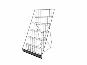 6 tiered Wire Display Rack For Tabletops Open Shelves With Header Black Rack