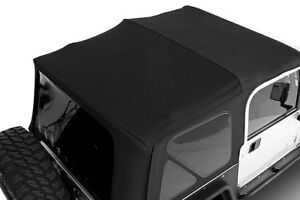 1997 2006 Jeep Wrangler Soft Top Canvas Roof Tinted Rear Windows Black Diamond