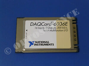 National Instruments Daqcard 6036e Ni Daq Card Pcmcia Analog Input Multifunction