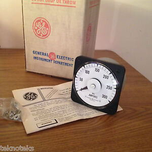 General Electric 50 103121aerx2 0 300 Dc Panel Ammeter