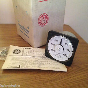General Electric 50 103121aetc2 Db40 0 1500 Dc Panel Ammeter