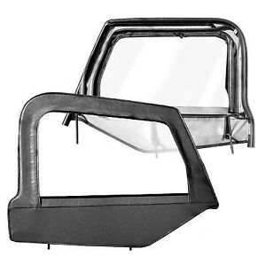 1997 2006 Jeep Wrangler Black Upper Door Windows With Frame Pair