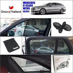 6 Pcs Set Foldable Mesh Curtain Car Sun Shade Fit For Benz C Class W205 Estate