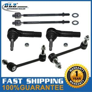 6x Set Front Inner Tie Rod Ends Sway Bar Link For 2006 2010 Dodge Charger Rwd
