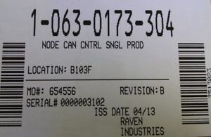 063 0173 304 Raven Can Node Single Product Control