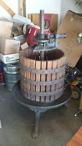 Vintage Antique Wooden Wine Press Primitive