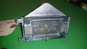 1958 Vintage Dash Clock By Geo W Borg Tested And Works