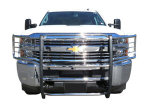 04 Chevy Silverado 1500hd 2500ld Chrome Brush Stainless Steel Grille Guards