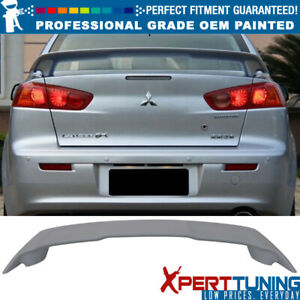 Fit 08 17 Mitsubishi Lancer Oe Style Painted Abs Trunk Spoiler oem Painted Color