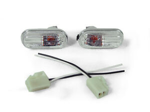 Depo Jdm Clear Dome Type Side Marker Lights Wiring For 1992 1995 Honda Civic