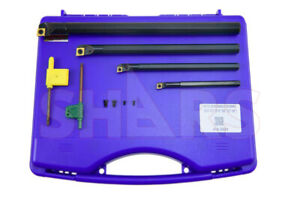 Shars Sclcr 5 16 3 8 1 2 5 8 Coolant Through Indexable Boring Bar Set New