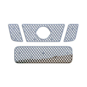 Grille Insert Guard Mesh Punch Polished Stainless Fits 08 14 Nissan Titan