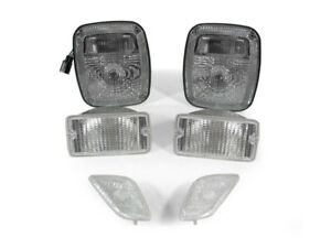 6pc Depo Clear Tail Bumper Side Marker Light For 1998 2006 Jeep Wrangler Tj