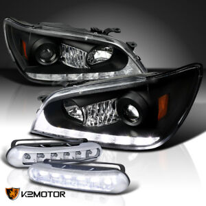 For 2001 2005 Lexus Is300 Black Led Projector Headlights Led Fog Lamps