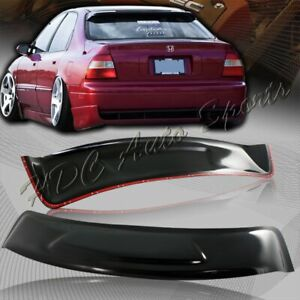 For 1994 1997 Honda Accord Sedan Abs Sun Shade Rear Roof Window Visor Spoiler