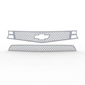 Grille Insert Guard Mesh Punch Brushed Stainless Fits 10 13 Chevy Camaro