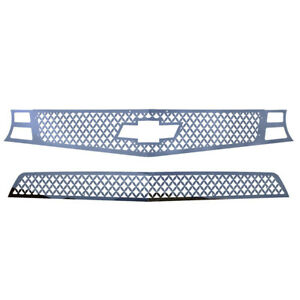 Grille Insert Guard Mesh Punch Polished Stainless Fits 10 13 Chevy Camaro