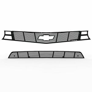 Grille Insert Guard Horizontal Billet Black Fits 10 13 Chevy Camaro