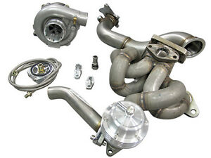 Cxracing Toyota Corolla Ae86 4age T3 Turbo Kit Top Mount Downpipe Wastegate