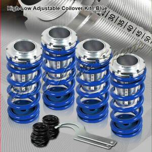 For 1988 2000 Honda Civic Crx Blue Suspension Scale Lower Coil Over Springs Kit