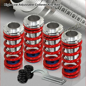 For Civic Prelude Del Sol Integra Red Suspension Scale Lowering Coilover Springs