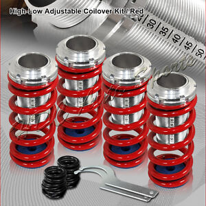 For 1988 2000 Honda Civic Crx Red Suspension Scale Lowering Coilover Springs Kit
