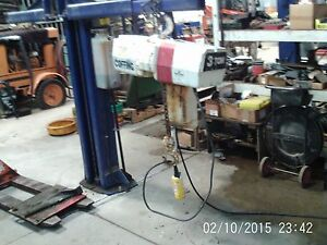 Coffing Overhead 2 Ton Hoist 3 Ph 240 480 W trolley