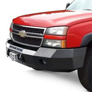 For Chevy Silverado 1500 03 06 Bumper Heavy Duty Series Full Width Black Front