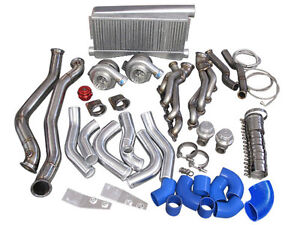 Twin Turbo Intercooler Kit For 1986 1992 Toyota Supra Mk3 With Ls1 Swap blue