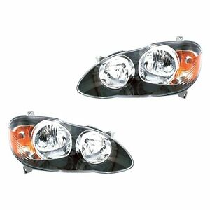 Fits 05 07 Corolla S Xrs Driver Passenger Side Headlight Lamp Assembly 1 Pair