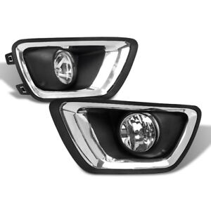 15 17 Chevy Colorado Pickup Bumper Driving Fog Lights Lamps Chrome W bezel bulb