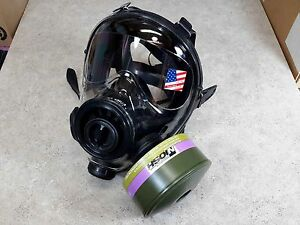 Sge 400 3 Gas Mask 40mm Nato Cbrn Cap1 Certified Filter Highest Nbc Protection