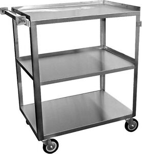 Ace 2 Sets Of Stainless Steel Utility Bus Cart 250lbs Load C 3111 Nsf