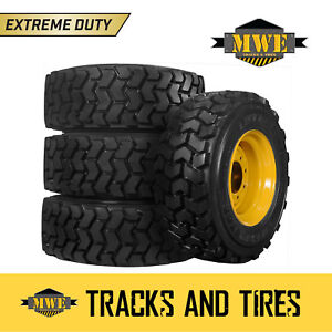 12x16 5 12 16 5 Extreme Duty 12 ply Lifemaster Skid Steer Tires Cat Yellow