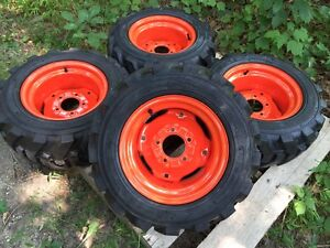 23x8 50 12 Foam Filled Xtra Wall Skid Steer Tires wheels For Bobcat 453 463 s70