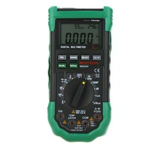 Mastech Ms8229 5 In 1 Auto Range Digital Multimeters W Temperature Test R7y0