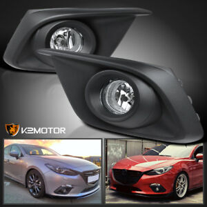 2014 2016 Mazda 3 Clear Lens Driving Bumper Fog Lights Bulbs Cover Switch
