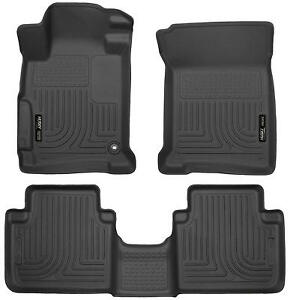 Husky Liners 2013 2017 Honda Accord Front Rear Floor Mats Black Weatherbeater