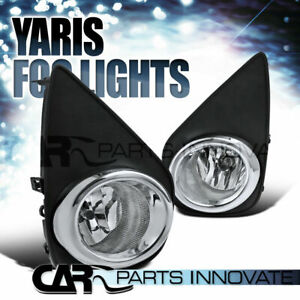 For 15 17 Toyota Yaris Hatchback 2 4dr Clear Fog Lights Driving Lamps Switch