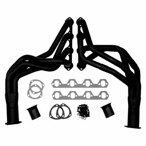For Ford Mustang 79 93 Mild Steel Black Painted Long Tube Exhaust Headers