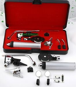 New Professional Physician Ophthalmoscope Otoscope Diagnostic Set 3 Free Bulbs