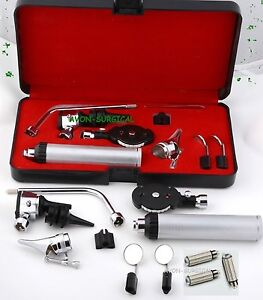 New Ent Opthalmoscope Ophthalmoscope Otoscope Nasal Diagnostic Set Kit 3 Bulb