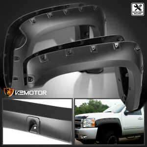 2007 2013 Chevy Silverado 1500 69 Short Bed Black Fender Flares Pocket Style