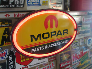 Mopar Parts Division Double Sided Metal Signs Charger Rt Dodge Chrysler Ram Hemi