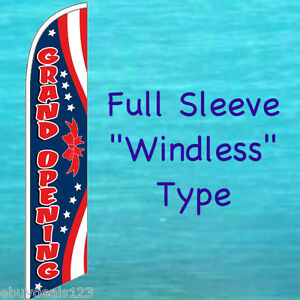 Grand Opening Windless Feather Flag Tall Advertising Sign Swooper Flutter Banner