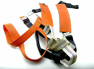 Used Spanset Body Safety Harness Lanyard Orange With Hook Screws